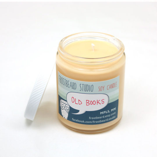 Gifts for Nook owners - book-scented candle