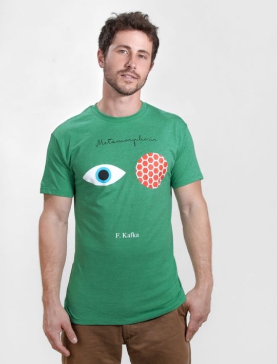 Gifts for Nook owners - men's t-shirt with book cover art