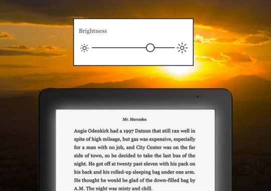 Kobo Aura Edition 2 (2016) - adjust the brightness of the front light