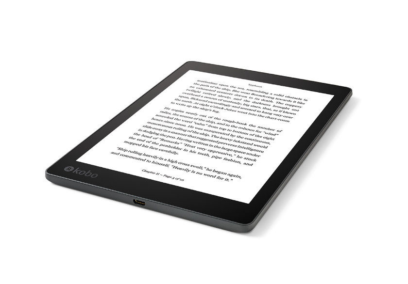 Kobo Aura One 2016 - a view from angle