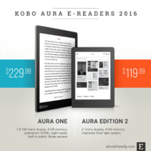Kobo Aura e-readers 2016: Aura One and Aura Edition 2