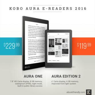 Kobo Aura e-readers 2016: Aura One and Aura Edition 2