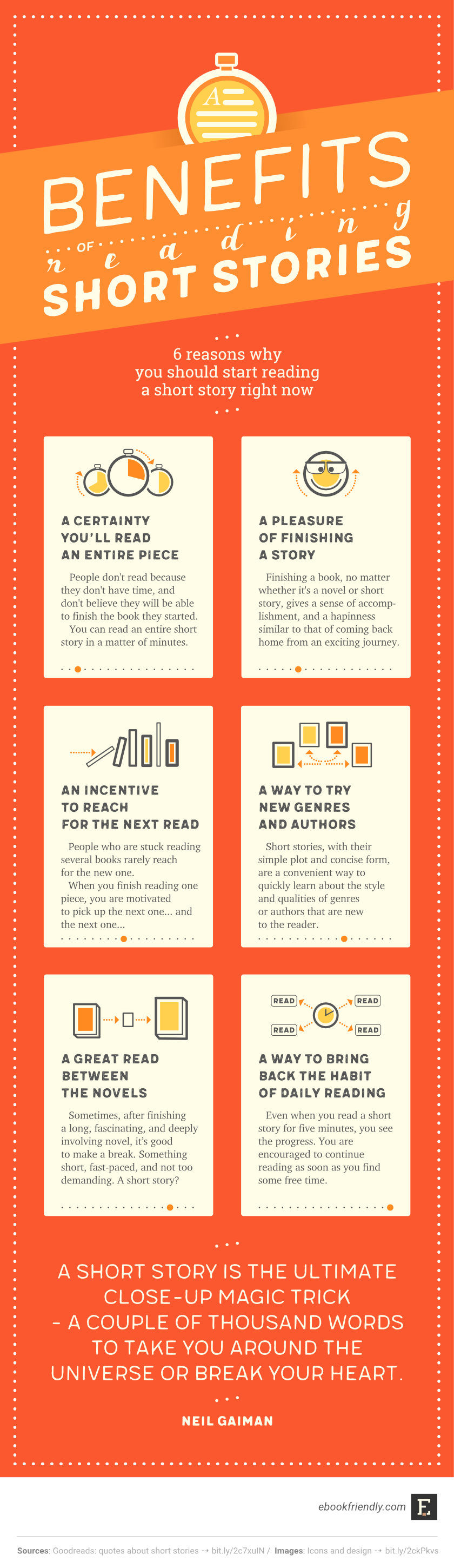 The benefits of reading short stories #infographic