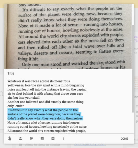 Image of: Ios The Text Is Now Searchable And Editable In Google Keep Use Google Keep To Collect And Digitize Quotes From Print Books