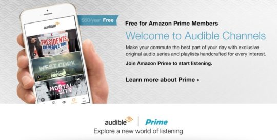 Audible Channels are free for Amazon Prime members