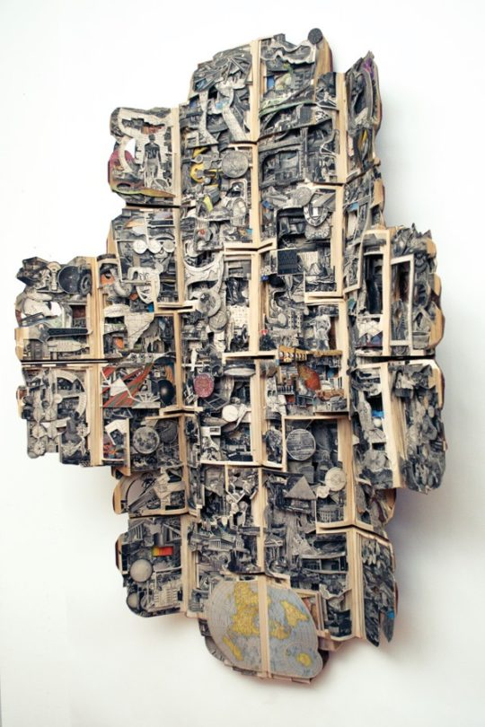 Book art by Brian Dettmer - American Peoples, 2011