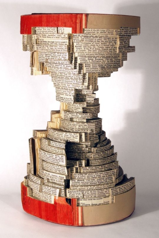 Book art by Brian Dettmer - Core 6, 2007