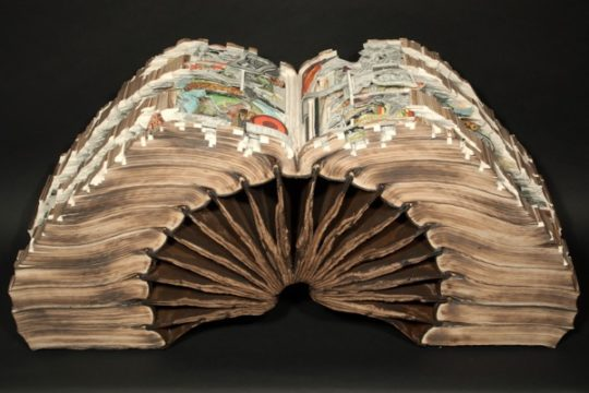 Book art by Brian Dettmer - Knowledge in Depth, 2013
