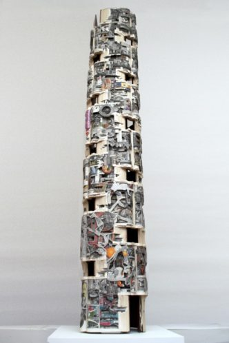 Book art by Brian Dettmer - Tower 70, 2013