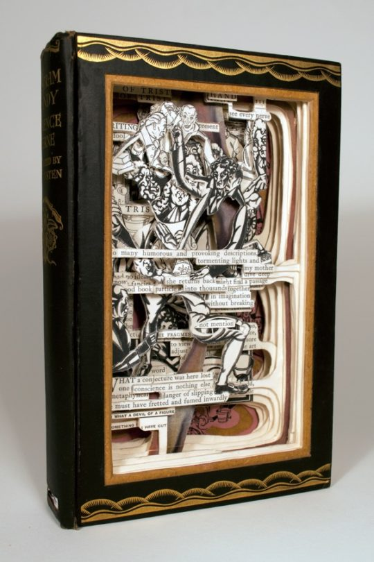 Book art by Brian Dettmer - Tristram Shandy, 2013