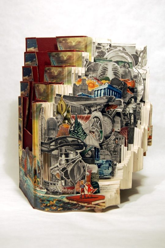 Book art by Brian Dettmer - Vertical Knowledge, 2009