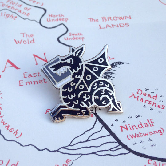 Bookish pins by Andrew Brozyna - Book Wyrm