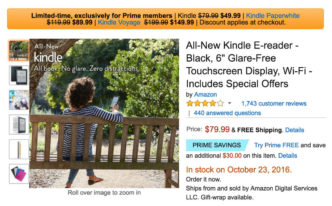 Kindle deal exclusive for Amazon Prime members