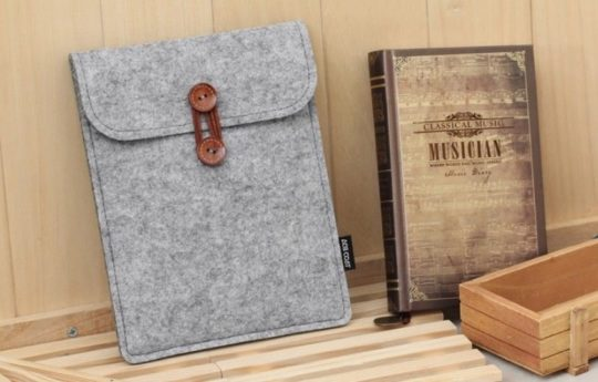 Light Gray Felt Sleeve for Kobo Aura One