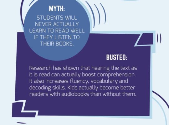 Myths about using audiobooks