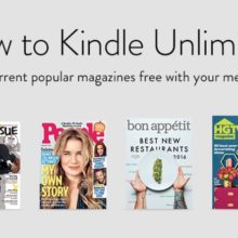 Read popular magazines free with Kindle Unlimited