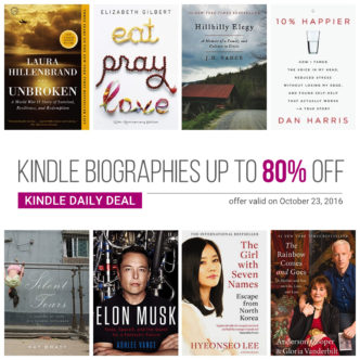 Save up to 80% on bestselling #Kindle memoirs and biographies