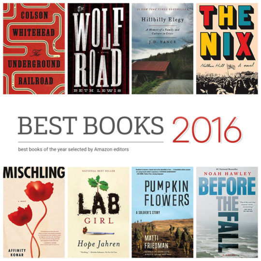 100 best books of 2016 selected by Amazon