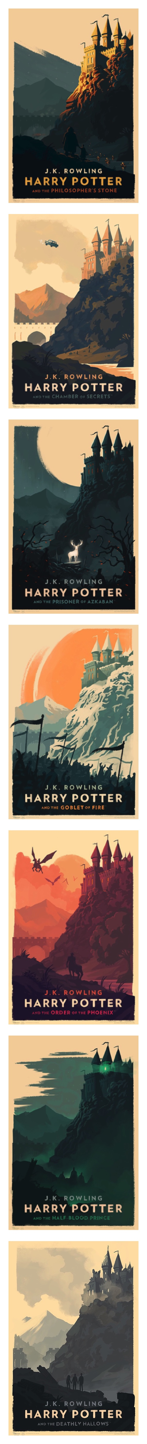 A series of minimalist Harry Potter posters by Olly Moss