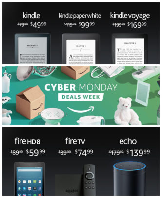 Amazon Fire Kindle deals extended through Cyber Monday 2016