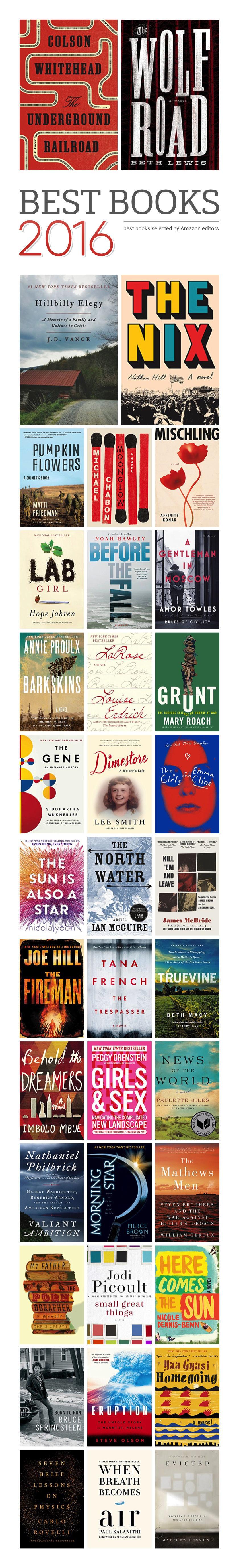 Amazon's 100 best books of 2016 #infographic