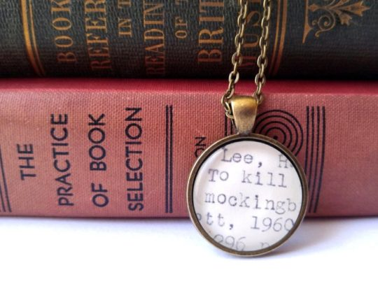Amazon Handmade: Book necklaces from By the Book Boutique