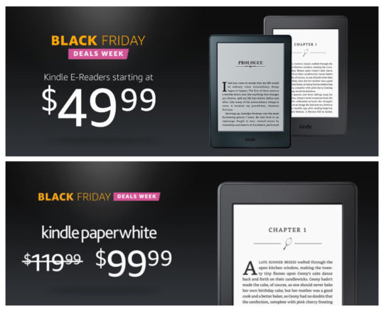 Cyber Monday 2016 Week - save up to 38% on Kindle e readers