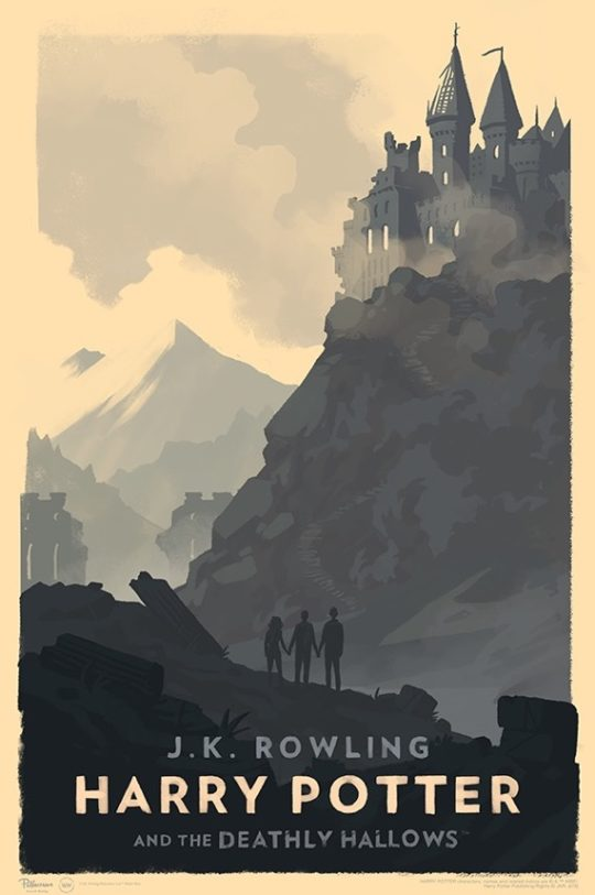 Harry Potter and the Deathly Hallows - poster by Olly Moss