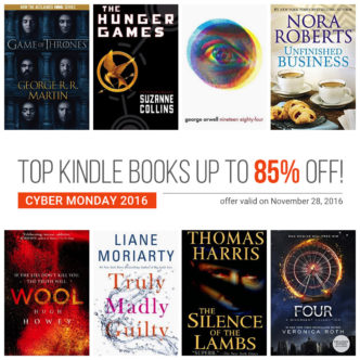 Kindle Daily Deal on Cyber Monday 2016 - 400 titles up to 85% off