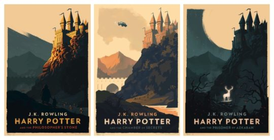 Minimalist Harry Potter posters by Olly Moss
