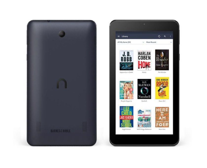Nook Tablet 7 (2016) - front and back