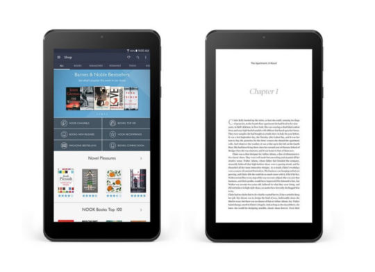 Nook Tablet 7 2016 - reading ebooks