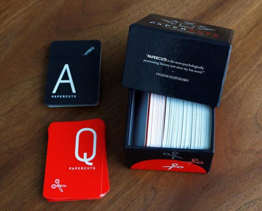 Papercuts literary card game from Electric Literature