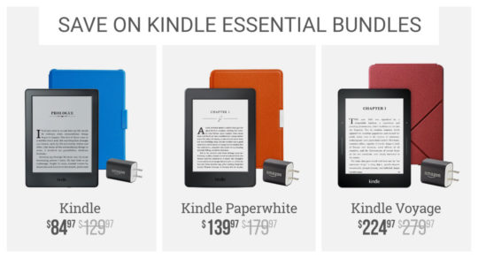 Save o Kindle Essential Bundles - Cyber Monday 2016