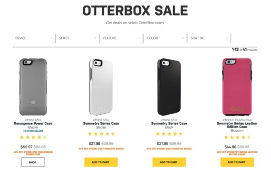Save on OtterBox cases - Cyber Monday 2016