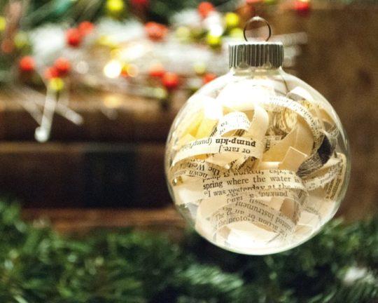 Amazon Handmade: Vintage book Christmas ornaments