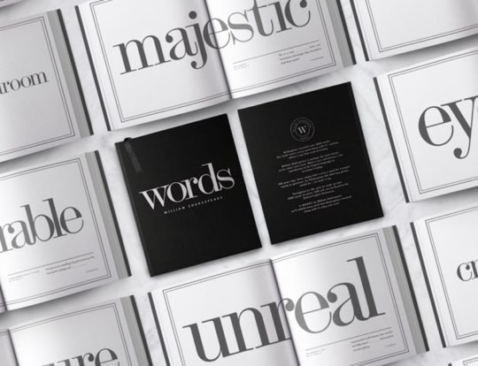Words - the book with all words invented by the Bard