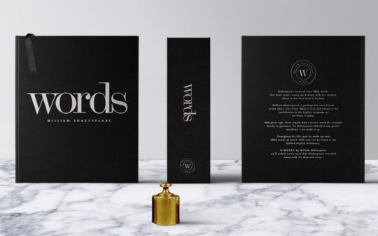Words - the book with nearly all words first used by William Shakespeare