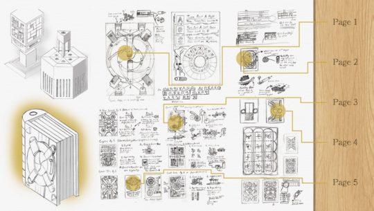 Codex Silenda puzzle book - concept ideation