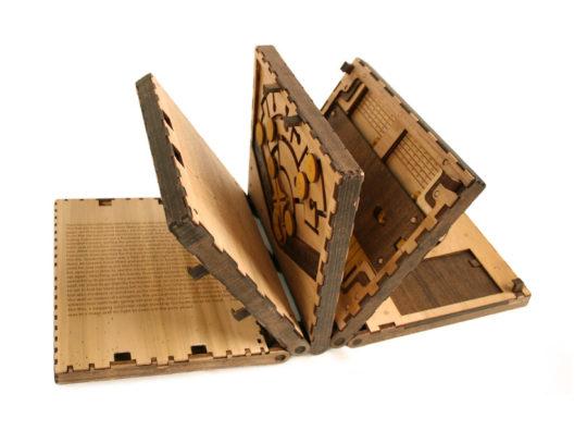 Codex Silenda puzzle book - opened