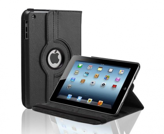 Compass Rotating Leather Case Cover with Stand for iPad Mini