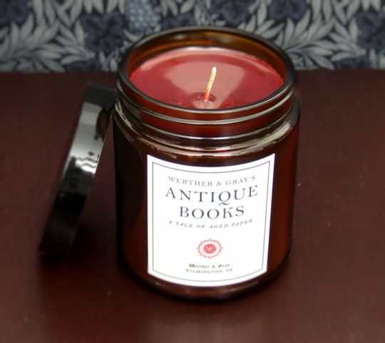 Gifts for Kindle owners - book-scented candle