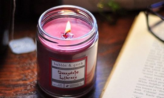 Gifts for Kindle owners - library-scented candle