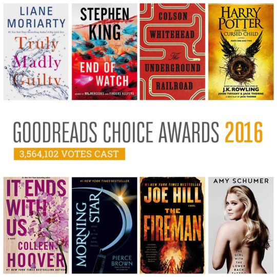 Here are the winners of goodreads choice awards 2016 fandeluxe Image collections