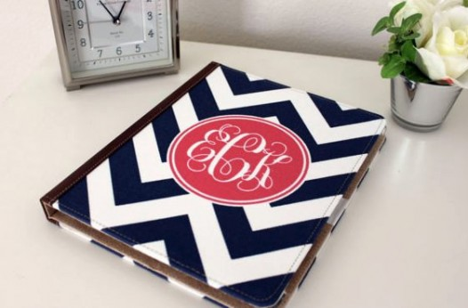 Kari On Design - personalized iPad cover with a monogram