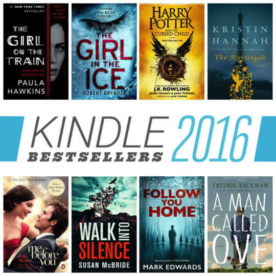 The best-selling Kindle books of 2016