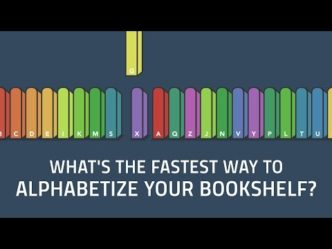 The fastest way to sort books on a bookshelf - video thumb
