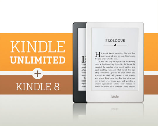 Kindle e-reader and Kindle Unlimited bundle