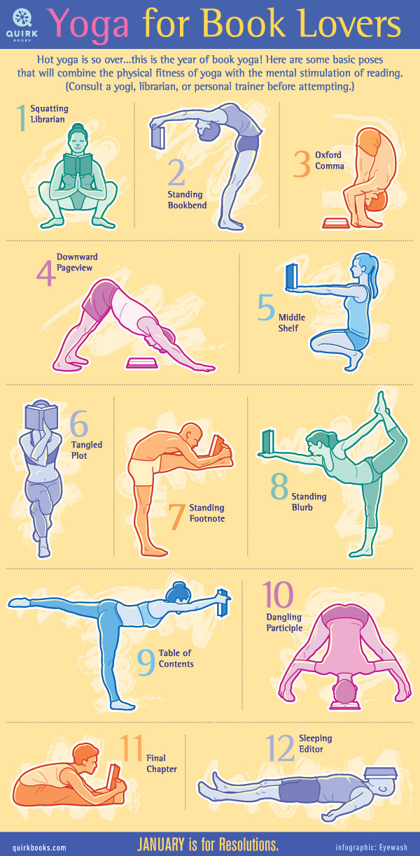 Yoga for book lovers #infographic