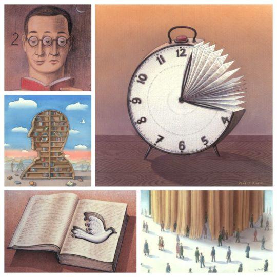 Book illustrations by Gürbüz Doğan Ekşioğlu